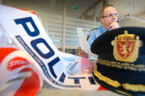 BEKYMRET: Politimester Arne Jørgen Olafsen er bekymret over nivået på nyutdannede polititjenestemenn som kommer direkte fra Politihøgskolen.  FOTO: CHRISTIAN CLAUSEN