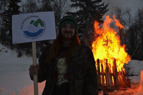 Initiativ: Knut Ivar Hestaas hadde tatt initiativ til vardebrenningen.