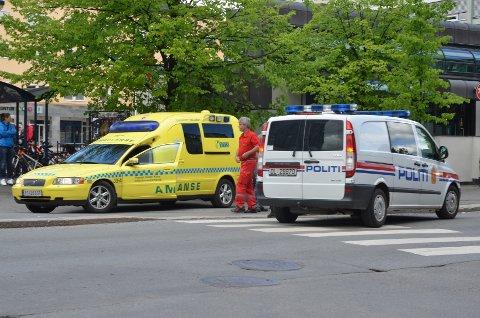 PÅKJØRT: En syklist ble påkjørt utenfor Peppes i Vangsvegen mandag ettermiddag.