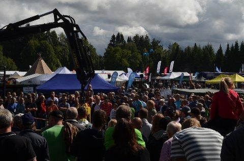 GODT BESØK: Arrangementsansvarlig Stein Tore Andersen er meget godt fornøyd med at over 32.000 personer besøkte Jakt- og fiskedagene i Elverum i helga.