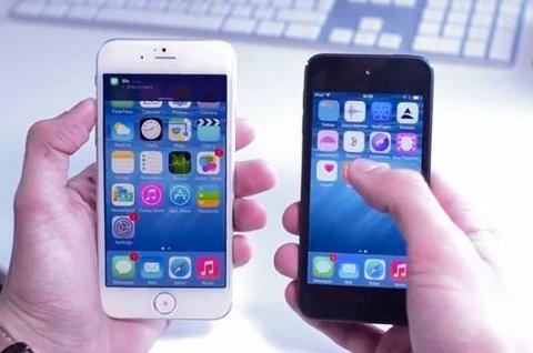 Slik kan iOS 8 se ut på iPhone 6.