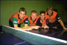 Modum i teten. Fra venstre: Lasse Holm, Anders Hovden, Rune W. Johansen, Roar Blikken.