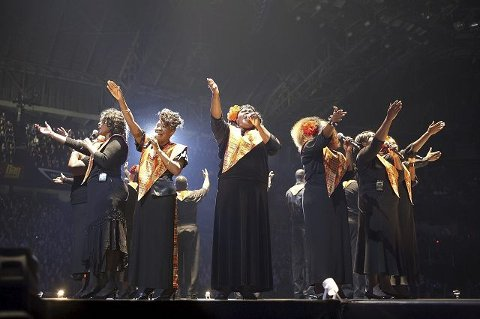 Gospelmusikk. Angels in Harlem tar turen fra New York til Drammen i desember. Foto: Pressebilde