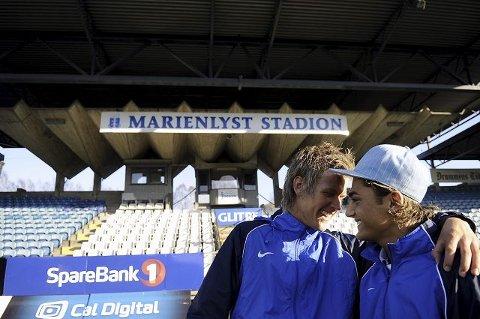 Serieåpning. Niklas Knutsen og Huseyin Engin (t.h.) er unge, men må stå fram som bærebjelker i Drammen Fotballklubb. I dag er det serieåpning på Marienlyst mot SIF 2.  FOTO: PER ABRAHAM GRENNÆS