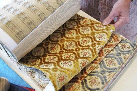 Eksempel på «bestemorsstoffer» som kan få et moderne uttrykk på moderne møbler.