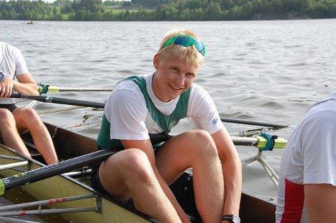 Høy takt og pågangsmot sikret Kris Cato Tohn fra Sandefjord Roklubb gullmedalje i Finland lørdag. Arkivfoto: Maja Christensen