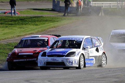 Camilla Antonsen fikk ikke brukt sin nye Ford Fiesta i Danmark, men med den gamle Focus'en ble hun likevel nord-europeisk mester i rallycross, divisjon 1. Foto Vidar Tangerud