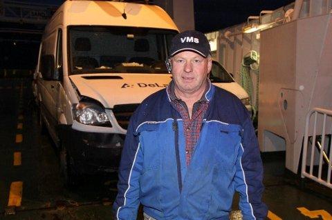 Per Aksel Birkeland var en av i alt 15 passasjerer på ferja Sand.