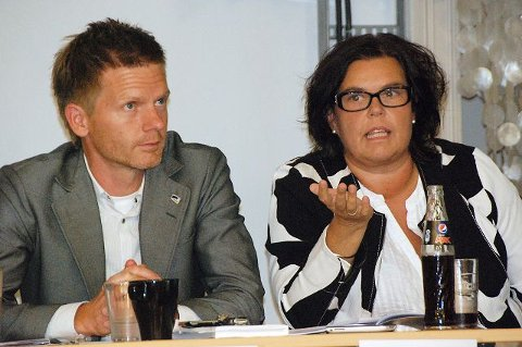 Tage Pettersen (H) og Anne Bramo (Frp) var enige om mye av det som ble diskutert.