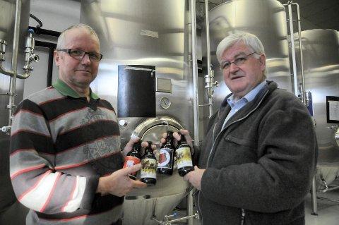 Ølbrygger Knut Brevig og daglig leder Torgeir Sjølie ved Det Lille Bryggeriet på Rena lager Norges beste pils, mener DrikekGlede.no.