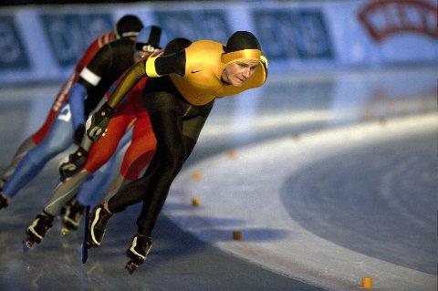 Tormod Bjørnetun Haugen tok sin del av drajobben under søndagens milløp. Foto: Sander Hvammen