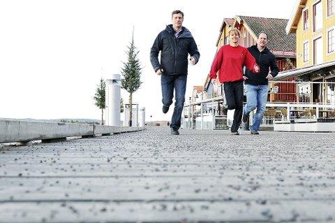 Fra venstre: Even Hytten, Hilde Grennes og Steinar Hamlet Nielsen gleder seg til å trene TB-leserne.