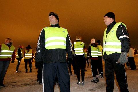 Jan Ellefsen (til venstre) tok initiativet til Tjukkasgjengen, og Lars Norsted var ikke sen om å bli med på tur