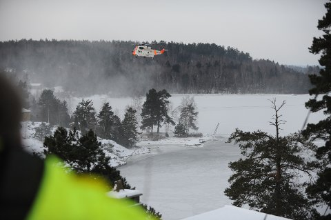 En person ble fløyet til Ullevål universitetssykehus i Sea King-helikopteret.