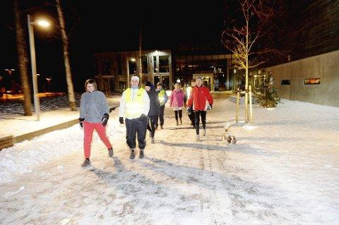 Flere av dem som ikke kom med i TB Aktiv har tatt initiativ til fellestreninger. Her ser vi (fra venstre) Tone Kaasa, Trine Dalen Wiesener, Vibeke Klungerbo, Anne Kamfjord, Elin Johannessen, Nick Johannessen og Einar Olai Johnsen på sin første samling.