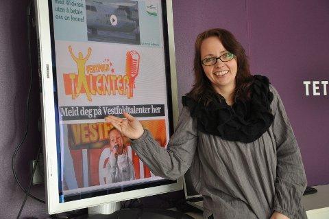 Utviklingsdirektør i Sandefjords Blad, Vibeke Bjerkaas, gleder seg til å følge årets Vestfoldtalenter. Foto: Ann Kristin Saastad