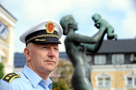 Brian Jacobsen er politistasjonssjef i Sandefjord. Foto: Per Langevei