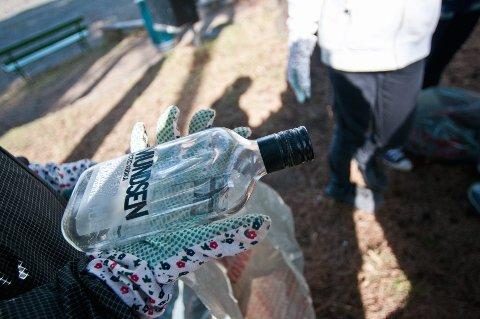 VODKA: Festen er over, men flaska er igjen ...