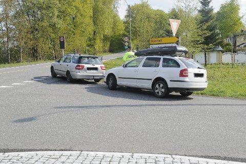 En bil kjørte inn i en annen bil bakfra på Fevang onsdag formiddag.