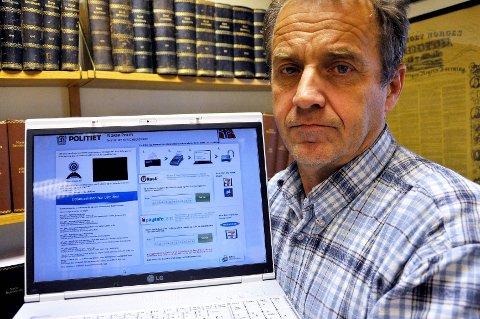 En av advokat Erik Bryn Tvedts klienter opplevde at PC-en plutselig ble fullstendig låst, med en falsk politimelding om at en bot på 100 euro måtte betales for å unngå straffesak.
