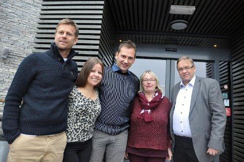 @- Bilde.tekst:PÅ KRF-LISTA: Fra venstre: Geir Byberg, Synøve Marie Johansen, Kjetil Lorentzen, Siv Rønningen og fylkesleder Kjell Bjørseth. @- Bilde.byline:Foto: ola kolåsæter