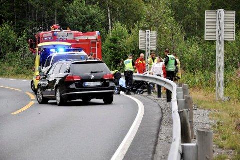 En motorsyklist omkom på Meheia, like ved Goasholtmyra