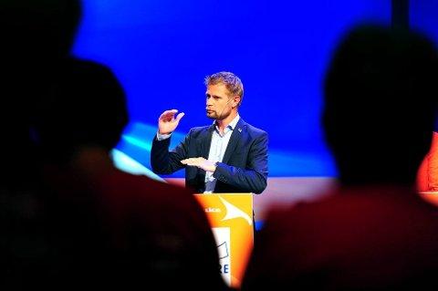 – Resultatet vi nå ser ble lagt i denne salen på landsmøtet i 2006, sier Høyres nestleder Bent Høie.