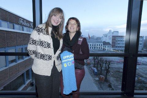 SAMLER: – Hvordan skal kulturhuset over 100 ansatte profilere bygget de jobber i? undrer Durita Brattaberg og Eli Arnkværn Bryhni, og lanserer en profileringskonkurranse. Foto: Jo E. Brenden