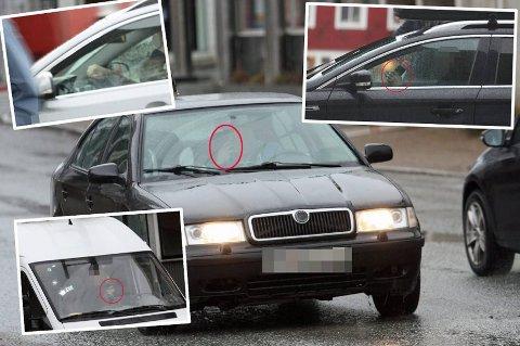Halvparten av de spurte i stor Nordlys-undersøkelse sier at de bryter loven når det gjelder mobilbruk mens de kjører. Disse bildene ble tatt av Nordlys i Tromsø tirsdag.