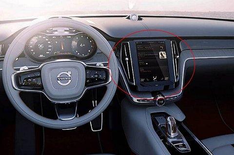 Volvo viser at det ikke bare er Tesla som kan lage et nettbrettlignende styresystem.