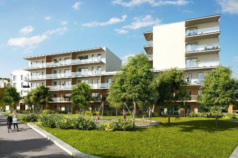 Boligprosjektet LonaParken skal bestå av 550 leiligheter og blir det første svanemerkede leilighetsprosjektet i Norge.