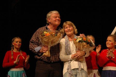 Hedret: Otto Beite og Karen Lind var svært overrasket over utmerkelsen.