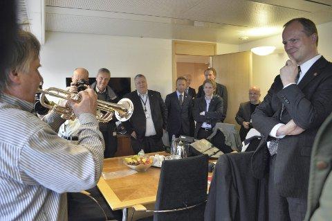 Selvsagt med: Trompeten var selvsagt med Børresen.