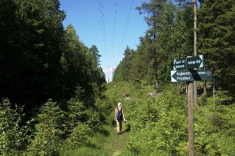 «LINJESTIEN»:  Runden følger «Linjestien», navnet etter strømlinjen som den følger nord