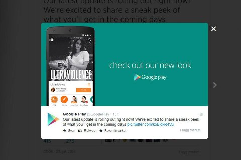 Google Play blir «ny».