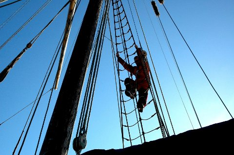 Sjøskolen håper de kan fortsette undervisningen på brygga i Son.