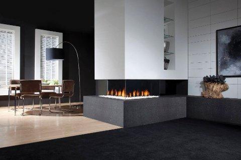 Gasspeis er en effektiv og estetisk varmekilde i boligen.