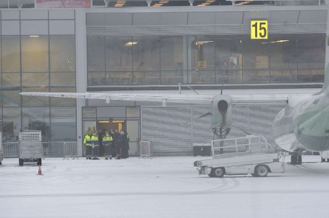 Torp Sandefjord lufthavn er evakuert.
