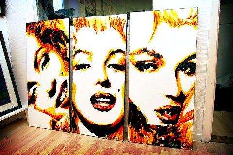 Ocean Clark Den amerikanske kunstneren Ocean Clark har laget disse bildene som stilles ut på Galleri P10.  Foto: Kjell-Kristian Sikkeland