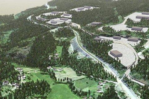 FOLLESTAD. Slik tenkte Røyken kommune seg Follestad næringspark i fjor. Nå lanseres planene om Nordens største motorpark akkurat i dette og nærliggende områder i kommun