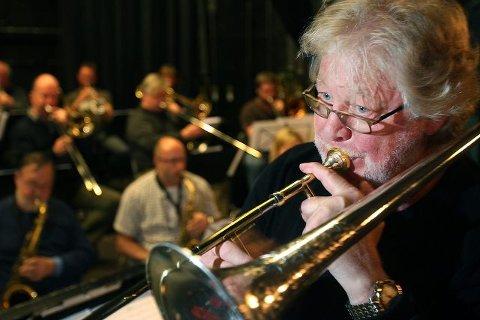 MANGESIDIG: Frode Thingnæs startet som jazzmusiker, men har i ettertid satt tydelige spor innenfor en rekke genre i norsk musikkliv som komponist, arrangør, dirigent og utøver på trombone.   Alle foto: Bjørn V. Sandness