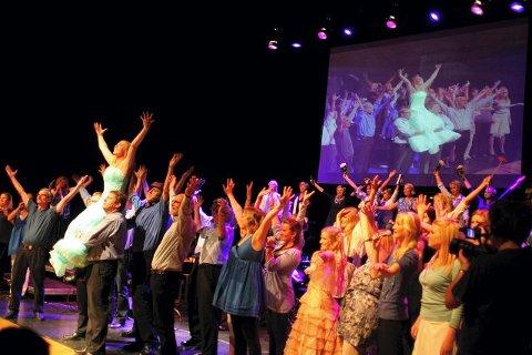HELPROFT: Tryllefløytene og Scenario leverte en helproff konsert fra begynnelse til slutt i Kolben i går. FOTO: ODD INGE RAND