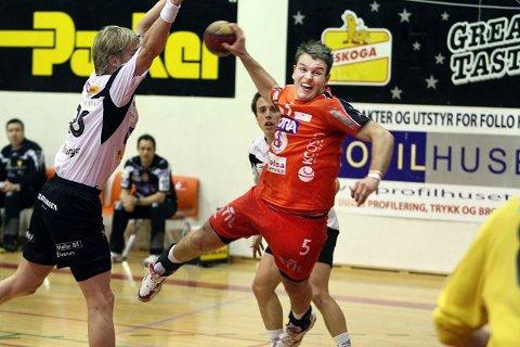 Torbjørn Andersen, her i aksjon mot Elverum, har bestemt seg for å fortsette håndballkarrieren et annet sted.