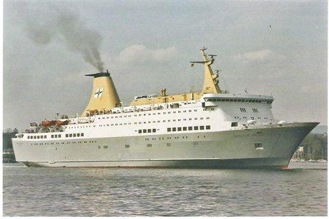 En svært så ung «Prinsesse Ragnhild» i 1981, samme året som skipet ble satt i trafikk.