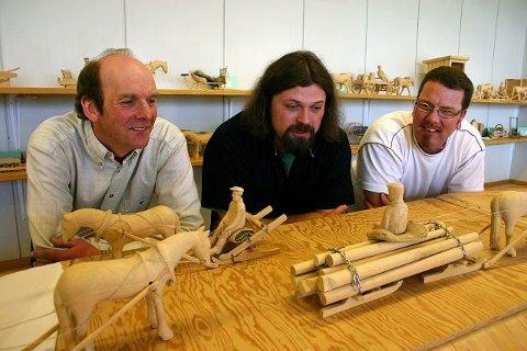 Tre av ildsjelene i interimsstyret som forberedte stiftelsen av Enebakk kulturforum. Fra venstre: Roar Killerud, Henning Bergersen og Leif Lillejordet. foto: ole endresen