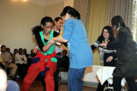 I løpet av tre dager hadde en gruppe elever øvd inn et teaterstykke.