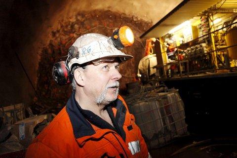 Roger Grøtan har bygget tunneler siden 1970.