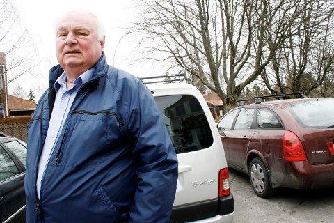 2d200446 Edgar Haugen er kraftig irritert over at biltyver kom seg unna med bilen  hans annen påskedag