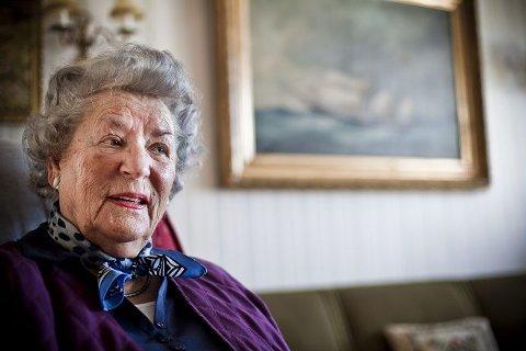 Ingeborg Sollesnes (86) fødte datteren Unni Elisabeth på en fødestue i Drøbak den 8. mai 1945. FOTO: Håkon Jacobsen