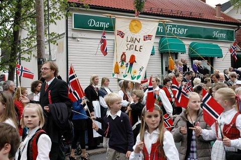 Ljan skole var selvfølgelig representert i fellestoget på Nordstrand.